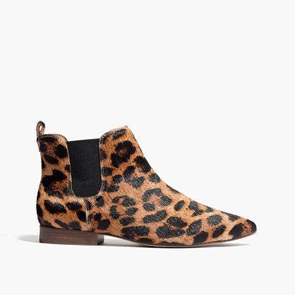 madewell leopard print booties