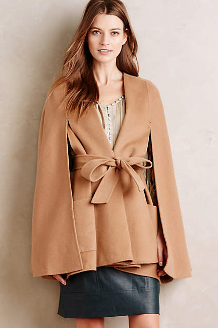 anthropologie cape coat