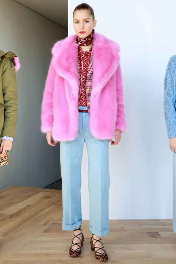 Mandatory Credit: Photo by Amy Sussman/WWD/REX/Shutterstock (5586723a) Model on the catwalk J Crew show, Runway, Fall Winter 2016, New York Fashion Week, America - 14 Feb 2016