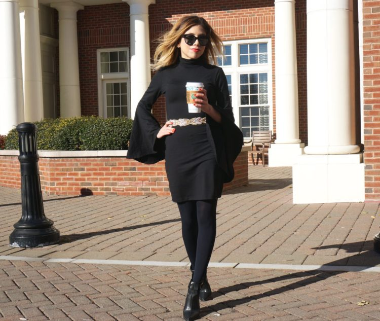 Holiday Style: LBD with Bell Sleeves