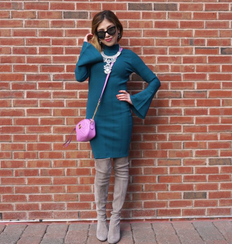 forest-green-dress-for-holidays