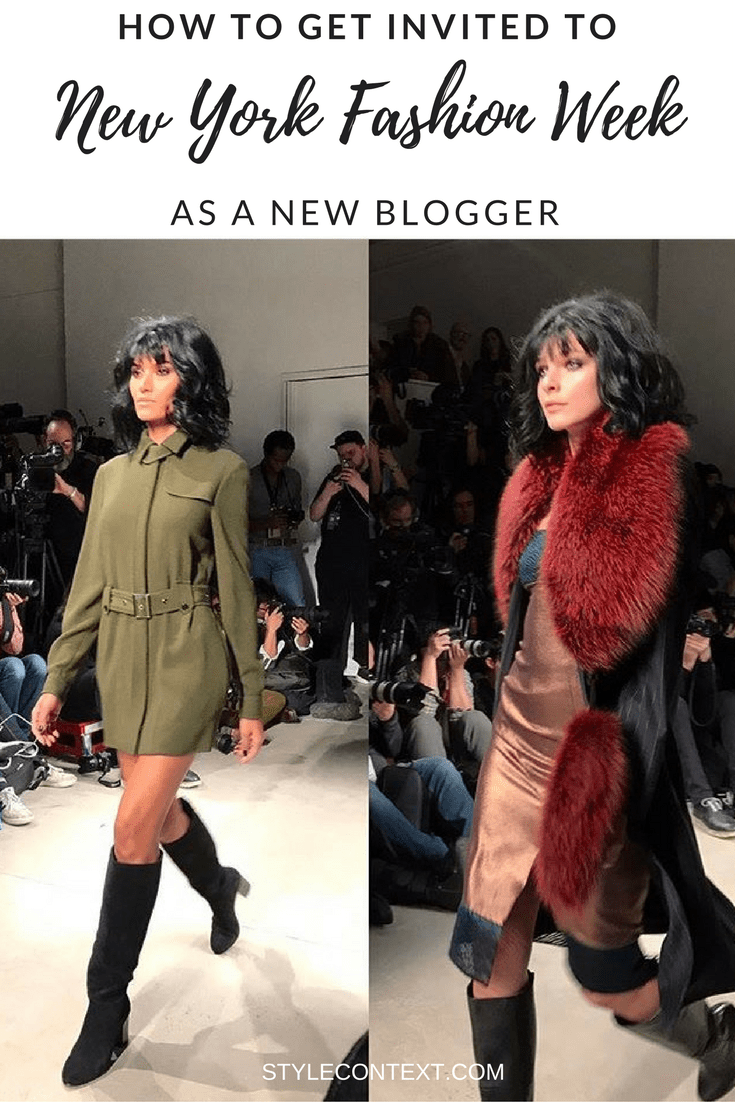 How to Get Invited to NYFW as a new blogger