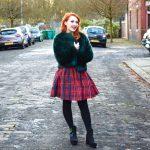 Blogger Twenty-Something City wears Jack Wills tartan dress for St Andrew's Day