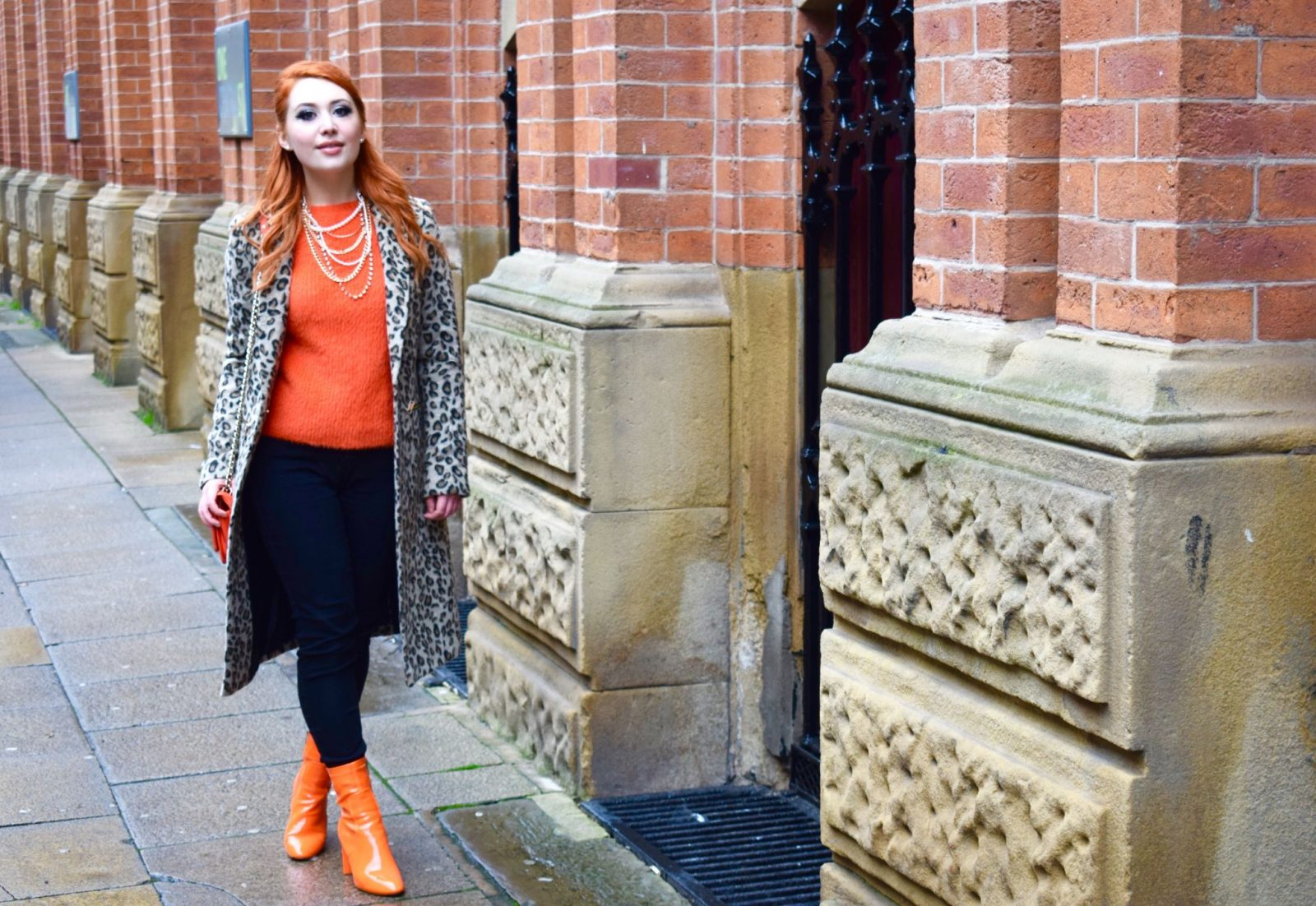 Blogger Twenty-Something City wearing orange in Manchester on why you should always be yourself