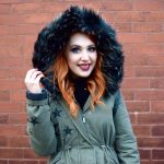 Blogger Twenty-Something City in New Look parka with faux fur hood from Black Friday sales