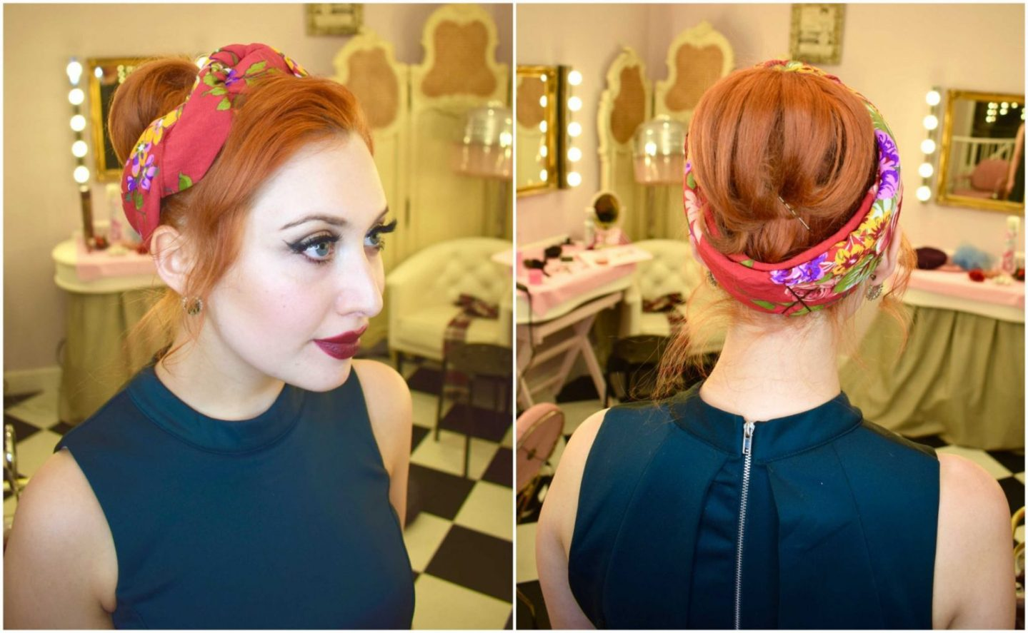 Christmas updo inspiration from Manchester's Vintage Beauty Parlour