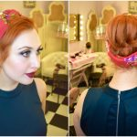 Blogger Twenty-Something City with Vintage updo for Christmas hair inspiration