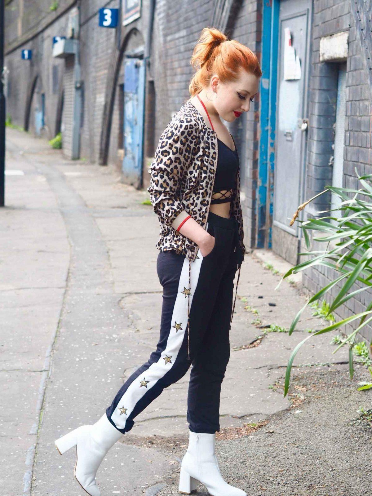 Blogger Twenty-Something City wears athleisure sports luxe trend