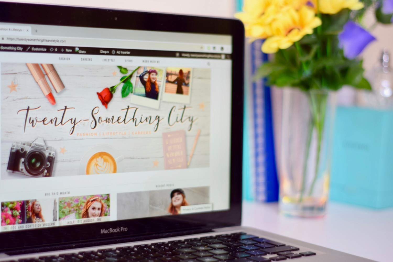 Edinburgh fashion lifestyle blog Twenty-Something City on Macbook