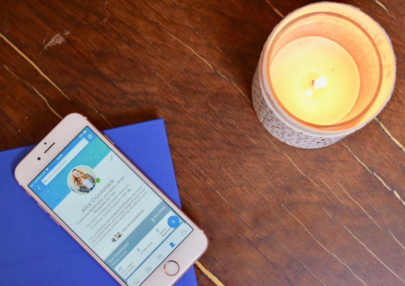 Twenty-Something City LinkedIn tips from Graduate Goal on iPhone