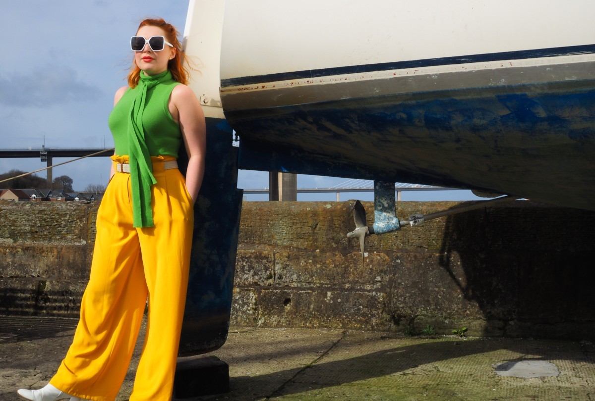 Scottish fashion stylist and bloger Styled by Alice wears bright citrus colours for spring