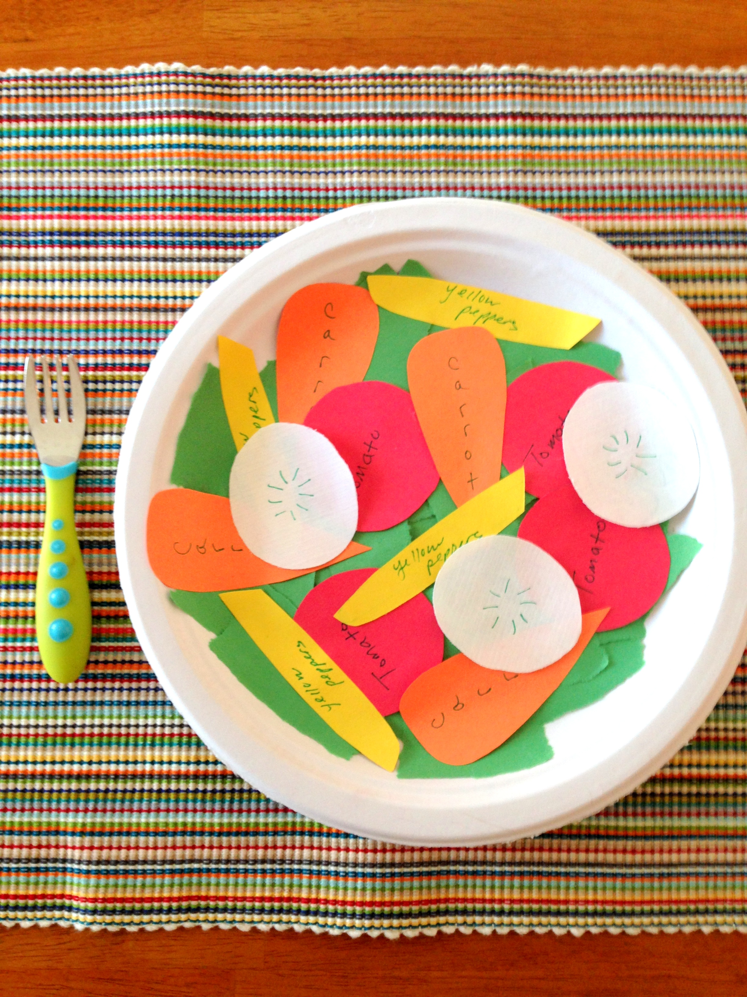 Toddler Craft Project Construction Paper Salad Styled