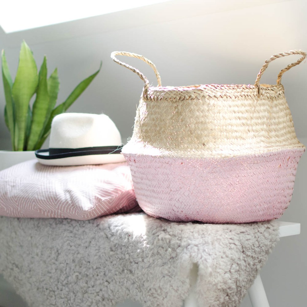 zeegras mand roze
