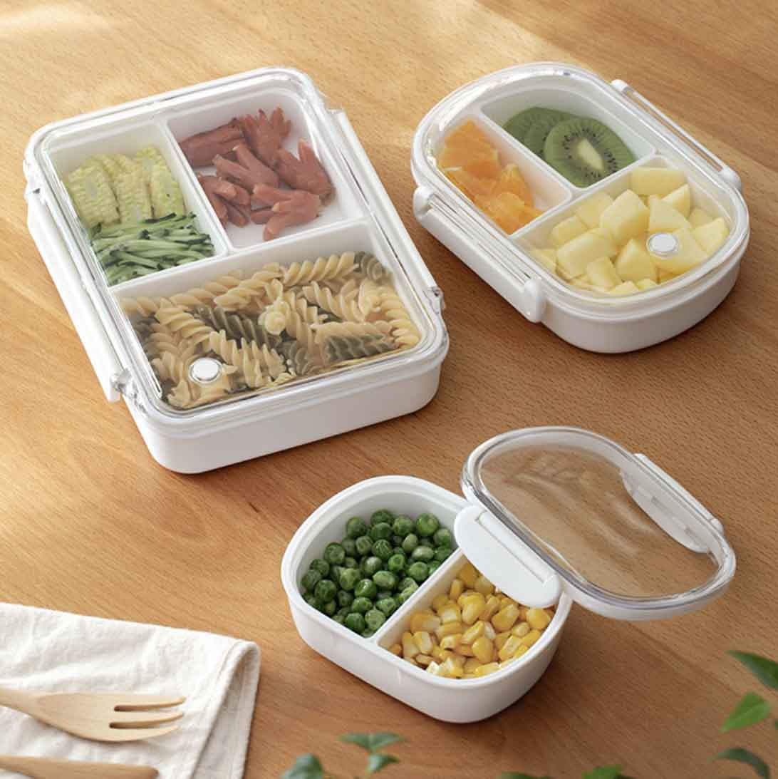everyday bento lunch box with dividers happy meals style degree