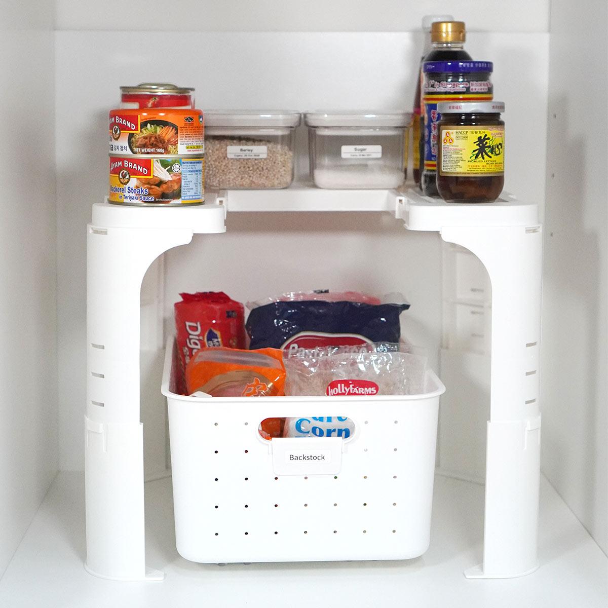 customisable under sink storage organizer kitchen bathroom