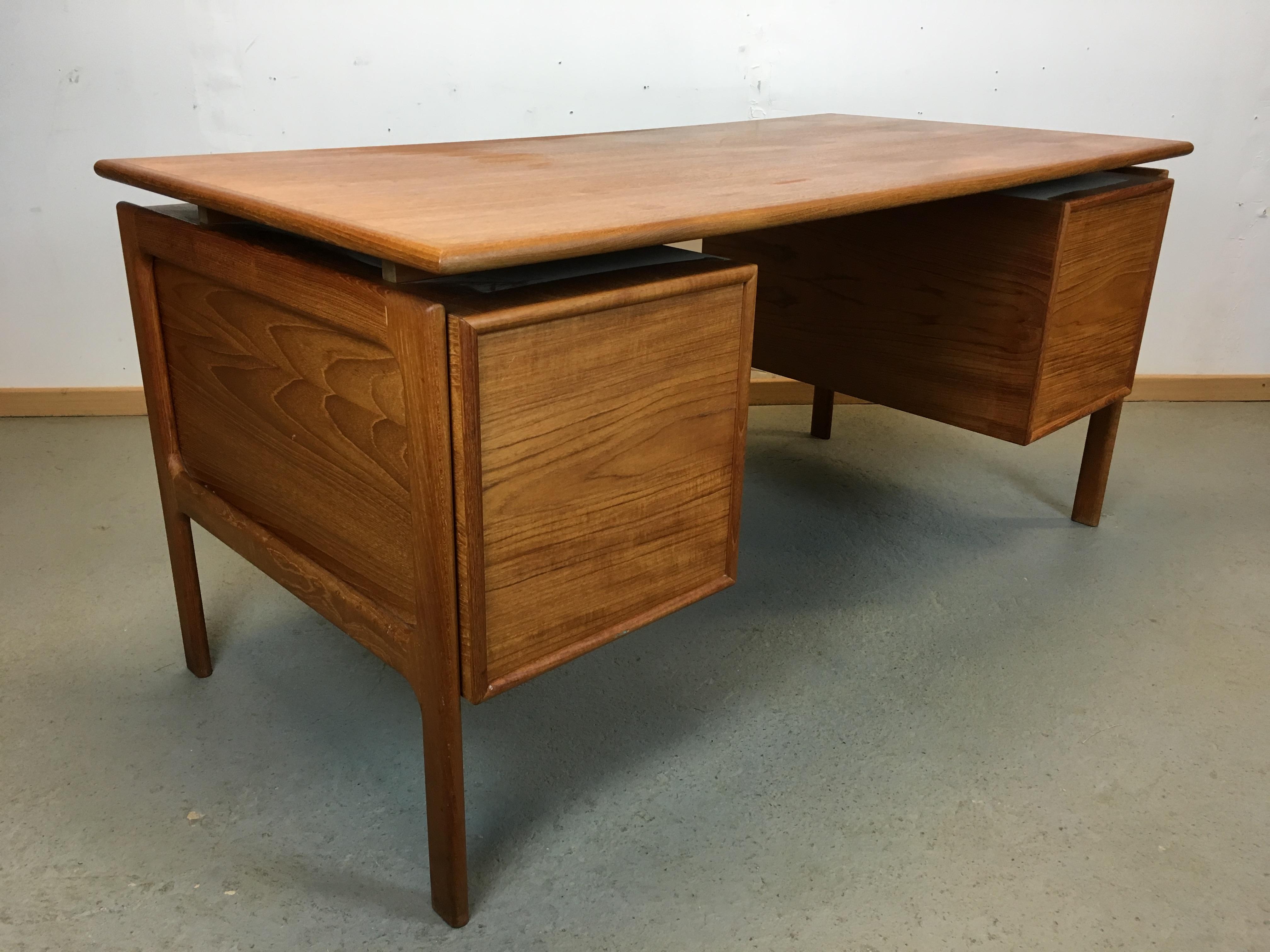 bureau scandinave annee 70 desk danish