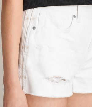 ALL SAINTS Serene Embroidered Denim Shorts
