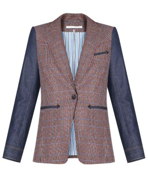 Veronica Beard Mela Dickey Jacket – Brown/Orange