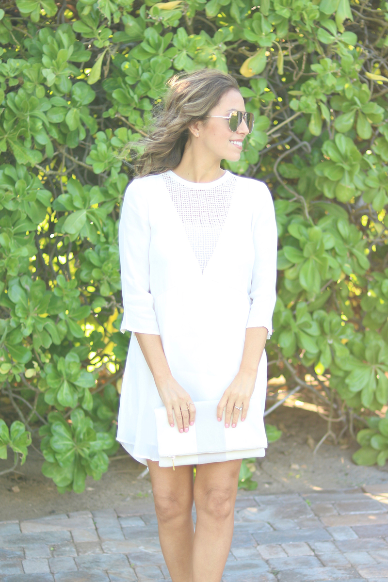 Summer fashion, casual dress, casual white dress