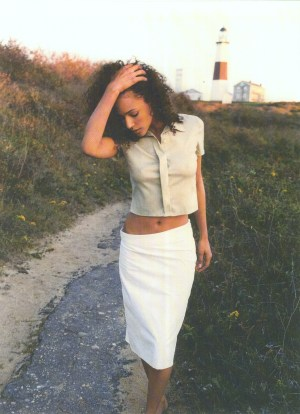 Cotton-Nylon Asym Skirt w Kevlar Coating &Silk blouse