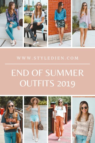 end of summer 2019 outfits