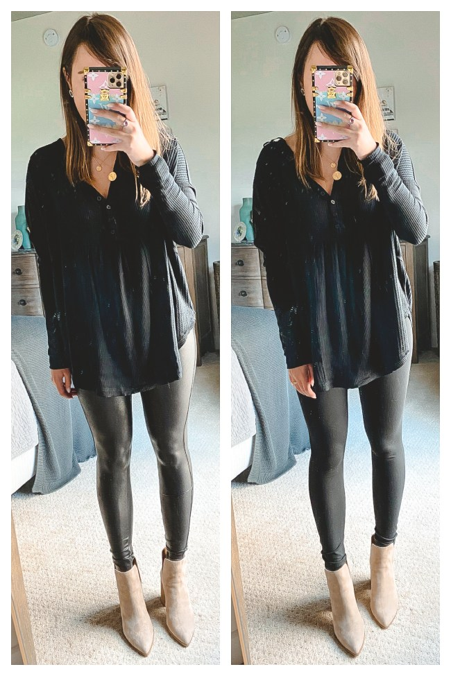 nordstrom anniversary sale 2020 zella leggings and spanx faux leather legging with free people leo