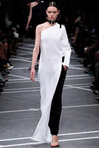 Black & White Dress over Pant. Givenchy / Spring 2013 RTW