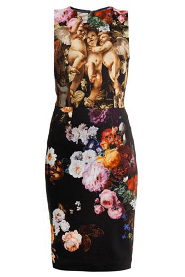 Floral Dolce & Gabbana Dress. www.HarpersBazaar.com