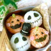 Halloween rice balls