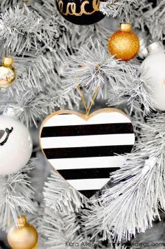 Striped ornaments