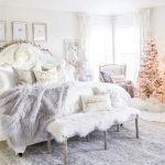Cozy Christmas Bedroom And Mantel Styled With Lace