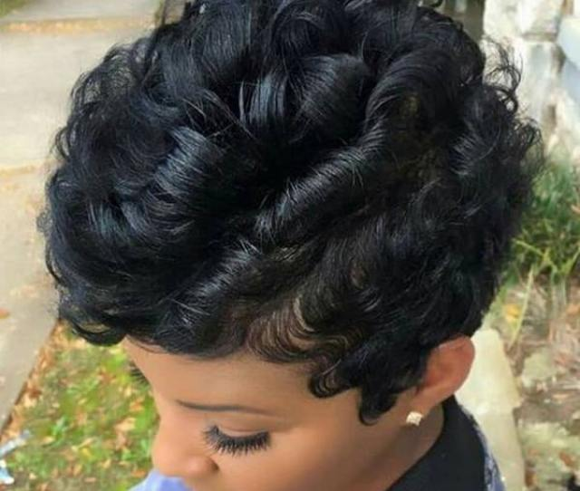 Curled Short Weave Hairstyle