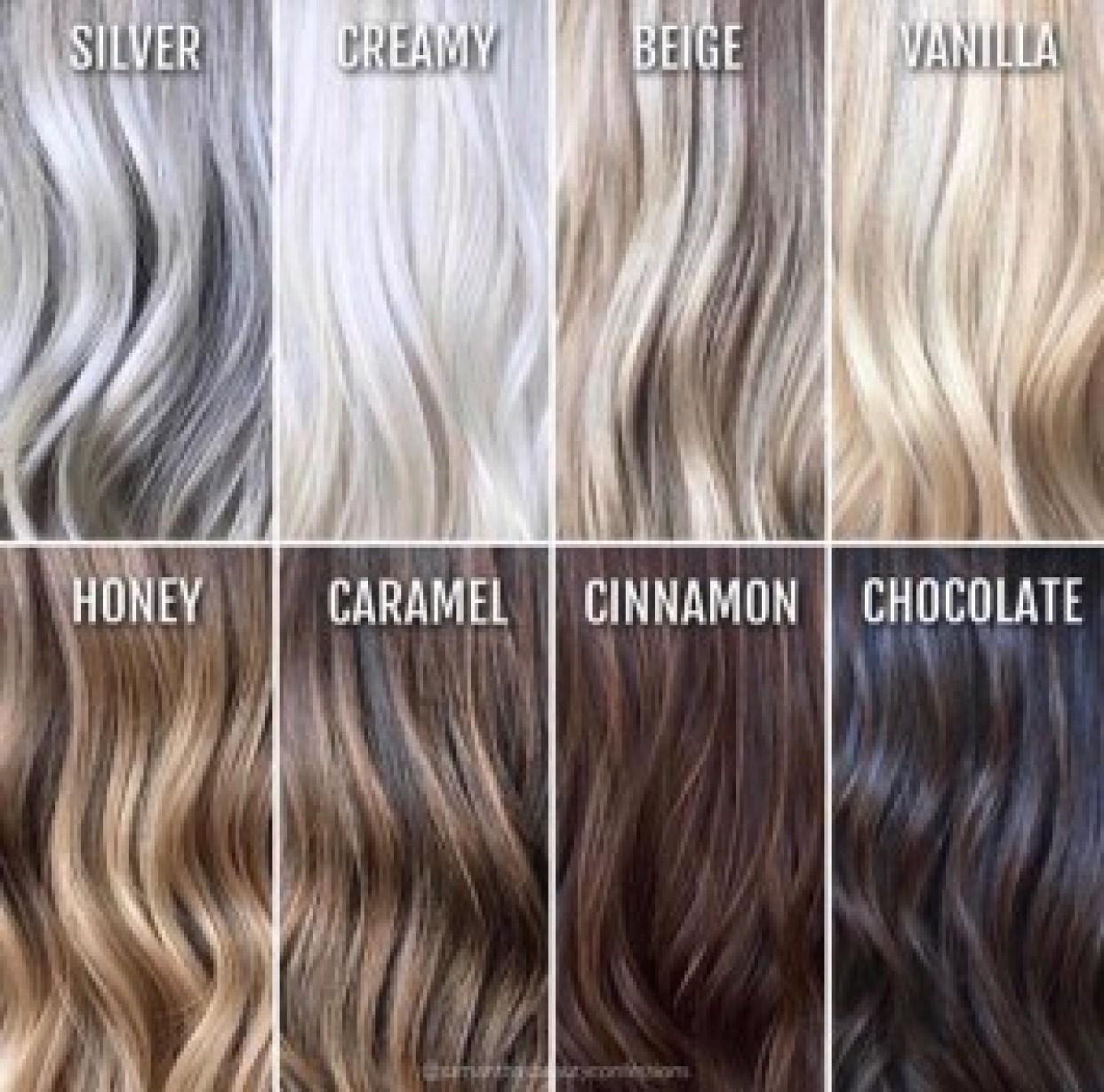 blonda och bruna slingor