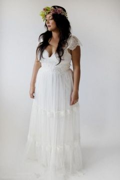 20+ Model of the Brides Dress for Fat Women to Look Stylish Slim 1