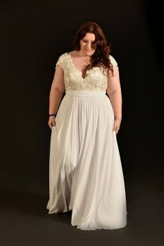 20+ Model of the Brides Dress for Fat Women to Look Stylish Slim 17