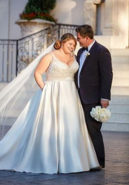 20+ Model of the Brides Dress for Fat Women to Look Stylish Slim 8