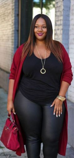 30 Fashion plus size outfit with black pants 1