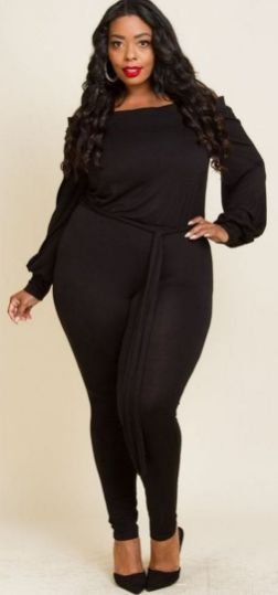 30 Fashion plus size outfit with black pants 2