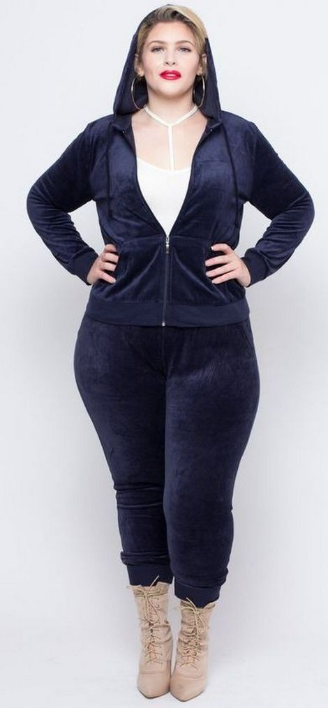 30 Fashion plus size outfit with black pants 8