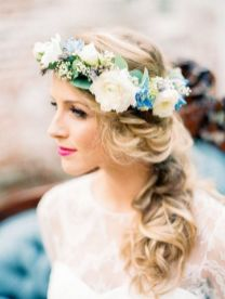60+Bridal Flower Crowns Perfect for Your Wedding Ideas 30