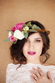 60+Bridal Flower Crowns Perfect for Your Wedding Ideas 34