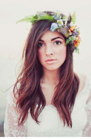 60+Bridal Flower Crowns Perfect for Your Wedding Ideas 46