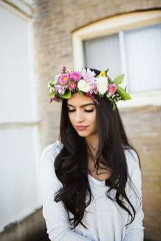 60+Bridal Flower Crowns Perfect for Your Wedding Ideas 50