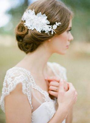 70+ Best Wedding lace headpiece Ideas 10