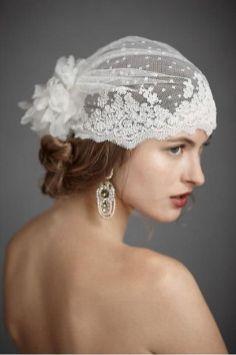 70+ Best Wedding lace headpiece Ideas 15