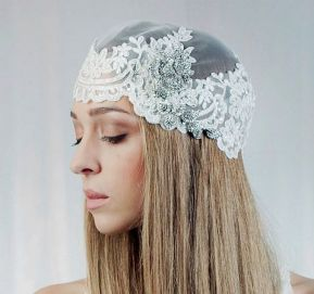 70+ Best Wedding lace headpiece Ideas 21