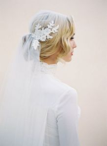 70+ Best Wedding lace headpiece Ideas 25