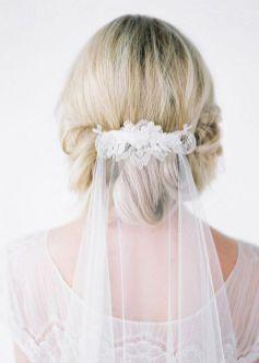 70+ Best Wedding lace headpiece Ideas 30