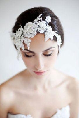 70+ Best Wedding lace headpiece Ideas 4