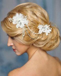 70+ Best Wedding lace headpiece Ideas 5